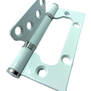 Петля накладная Apollo WHP/CP белое серебро. 4325 A 100*75*2.5